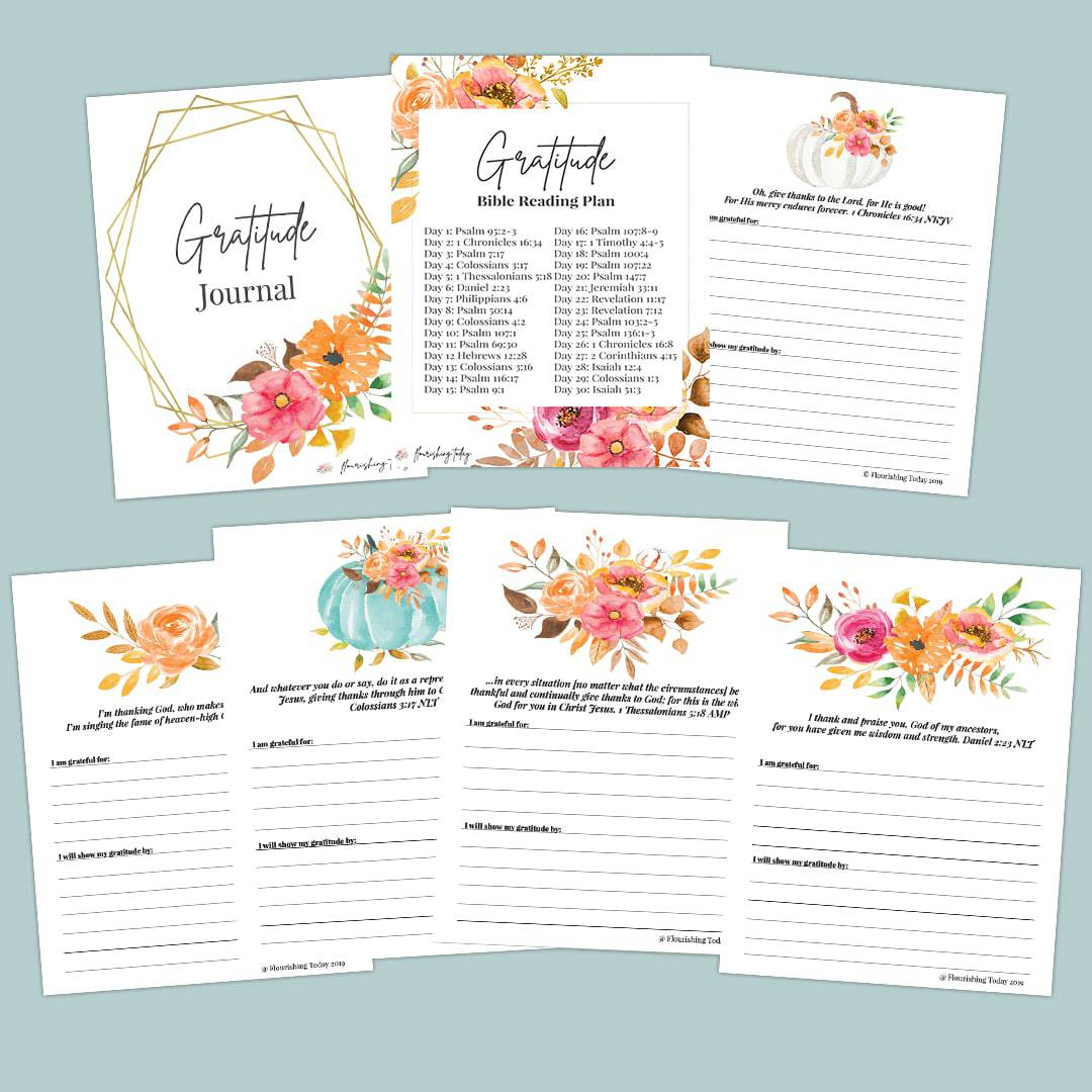 Looking for a way to get intentional with gratitude? With our Gratitude Daily Journal, you'll have the scriptures and guidance you need to begin cultivating a heart of gratitude. #gratitude #thanksgiving