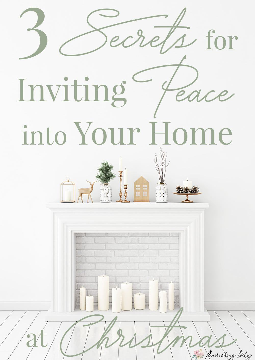 Has your Christmas to do list got you frazzled? Here are 3 secrets to inviting peace into your home at Christmas this year. #Christmas #peace #peaceful