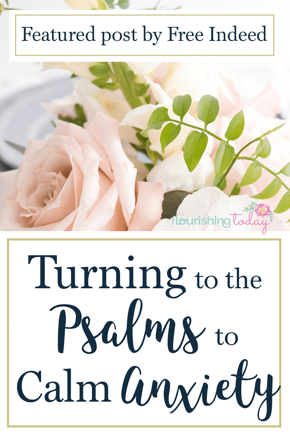 Where do you turn when you are feeling anxious? The psalms are perfect to ease anxiety. They show us who God is and He's in control. Here are a few to help.