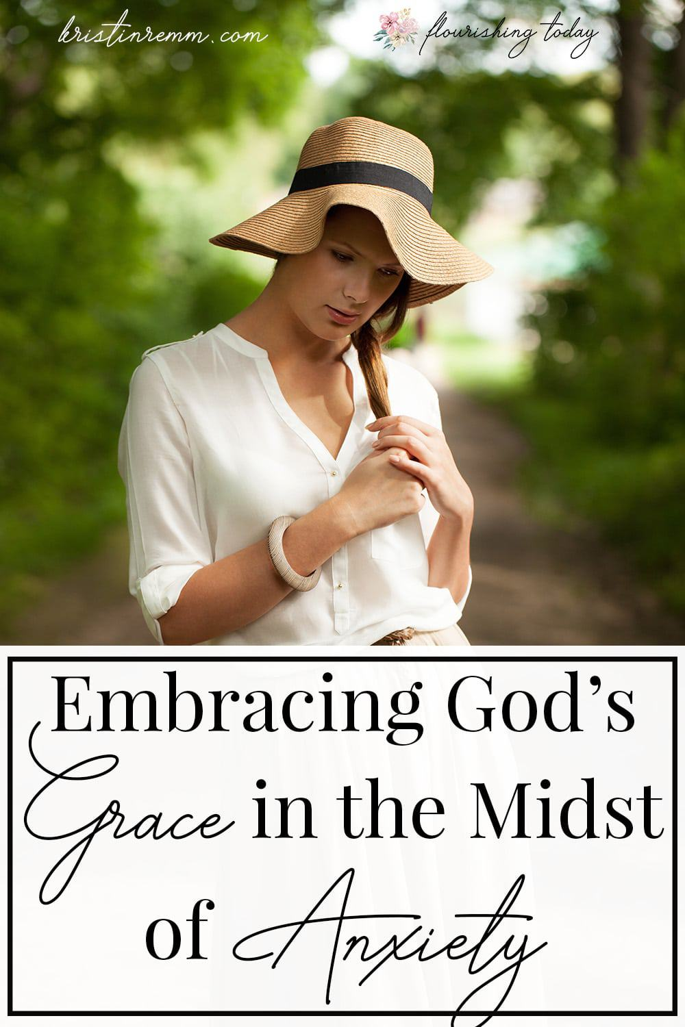 Are you in a hard place right now? Do you feel overwhelmed by despair? Here are a few tips for embracing grace from God when you're in the midst of anxiety. #anxiety #sorrow #grace #mercy #healing embracing grace god