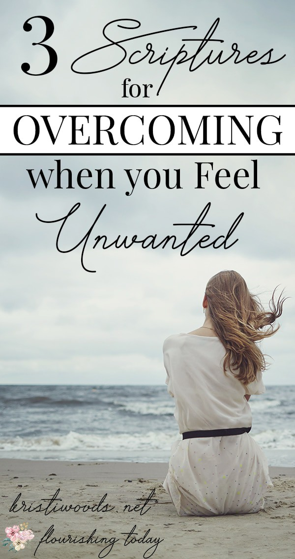 Do you feel unwanted or unworthy? Rejection and heartbreak can leave us feeling like no one cares. Yet, the Bible tells us we are completely loved and adored by our Father in heaven. Here are 3 scriptures for overcoming when we feel unwanted. #overcoming #overcome #overcomingscriptures