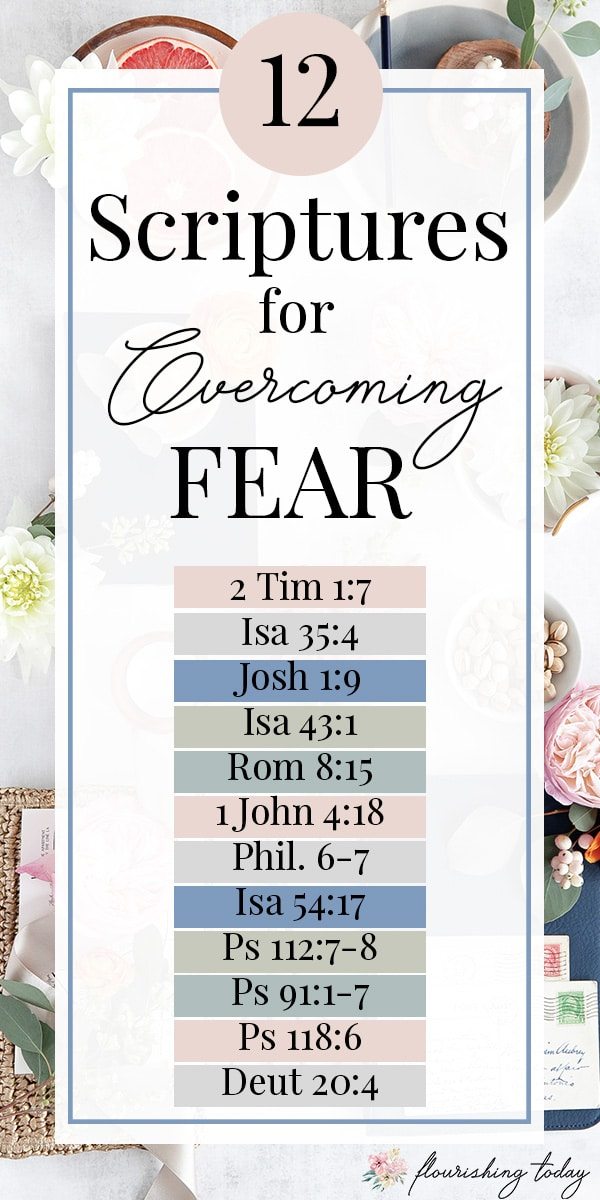 Are you tired of struggling with fear and anxiety? In this article you'll find 12 Bible verses about fear and how you can overcome it with faith and the truth of God's Word. #overcomingfear #scripturesonfear #scripture #bibleversesonfear #overcomefear #fear #anxiety