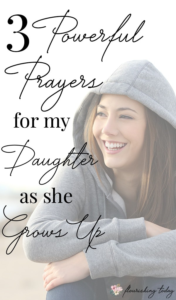 As a mom it can be difficult to help our girls navigate the onset of the teenage years. Besides encouragement, we can pray for them, asking God to strengthen their faith, for protection over their minds and for discernment in their relationships. Here are a few scriptures and prayers for my daughter as she becomes a young woman. #relationships #prayerfordaughters #prayer #teenagers #raisinggirls