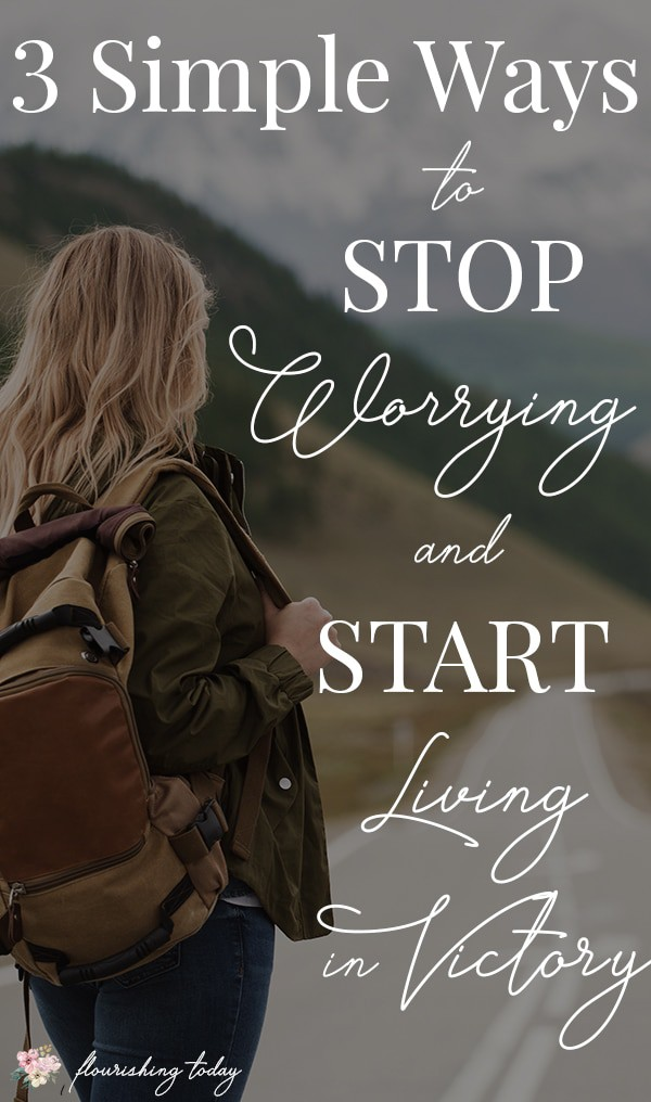 Are you tired of worrying about everything in your life? God wants you to live in victory! Here are some bible verses to help you stop worrying and start living the abundant life in Christ. #worry #fear #worryless #prayer #livefree