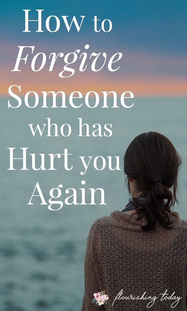 Do you need to forgive someone who has hurt you repeatedly? Perhaps your tired of forgiving. Here are a few biblical truths to learn to walk in God's truth on forgiveness and forgive those people who hurt your feelings. #forgive #forgiveness #biblicaltruths #bibleverses #scriptureonforgiveness #howtoforgive