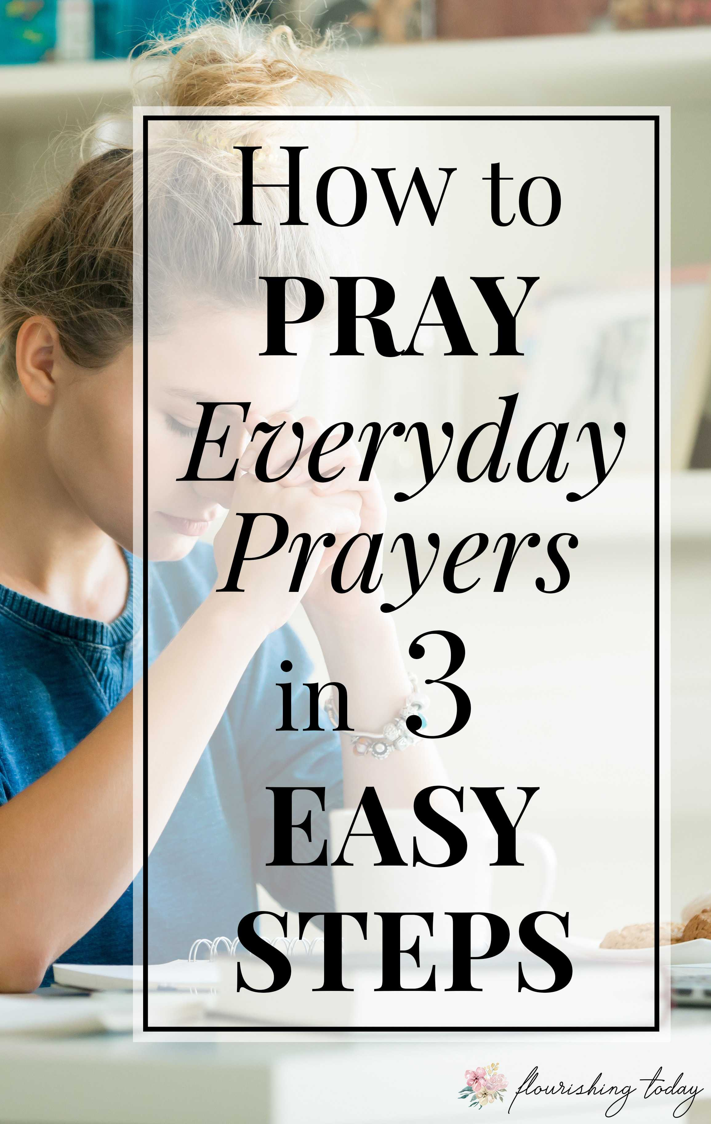 Do you struggle with how to pray everyday? Praying is simply talking to God and doesn't have to be complicated. Here are a few tips for beginners on how to pray to God daily. #prayers #dailyprayer #prayerforbeginners #praying