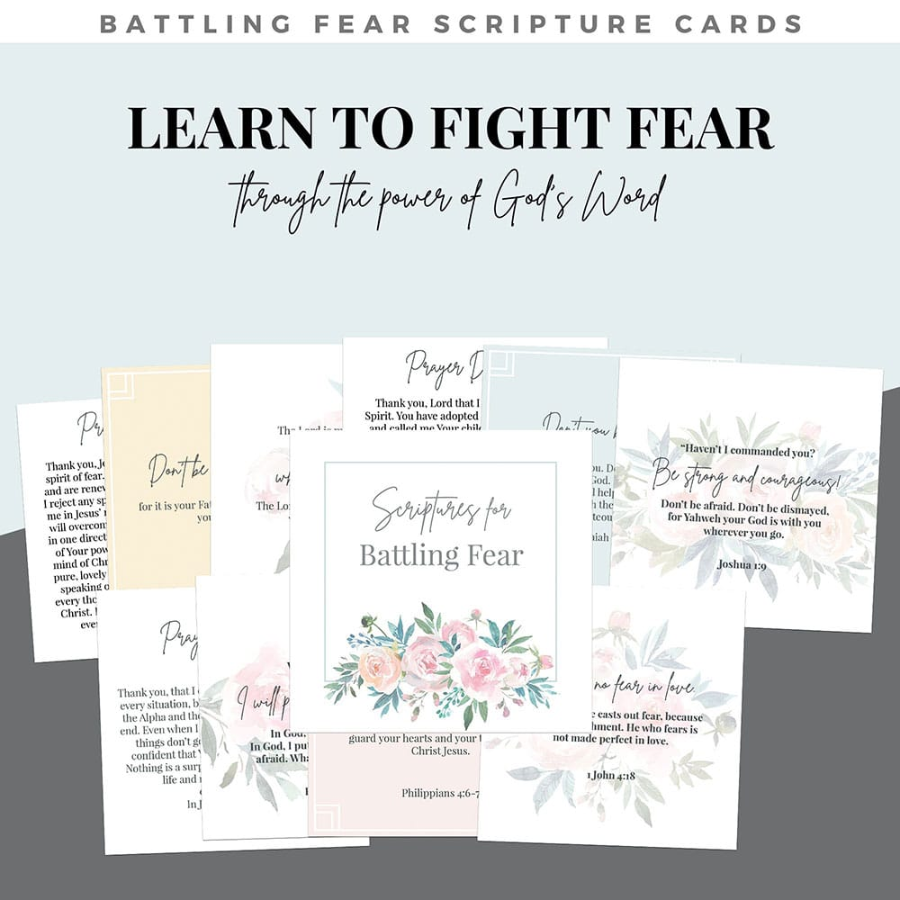 battling fear scripture cards