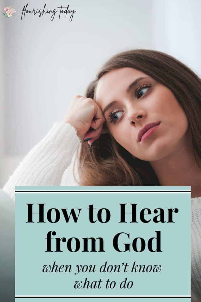 Do you need to know how to hear from God on a situation but don't know where to begin? Here you'll find a prayer to help you seek God and 3 ways you can hear God when you need to make a decision. #hearGod #Godsvoice #bible #scripture #bibleverses