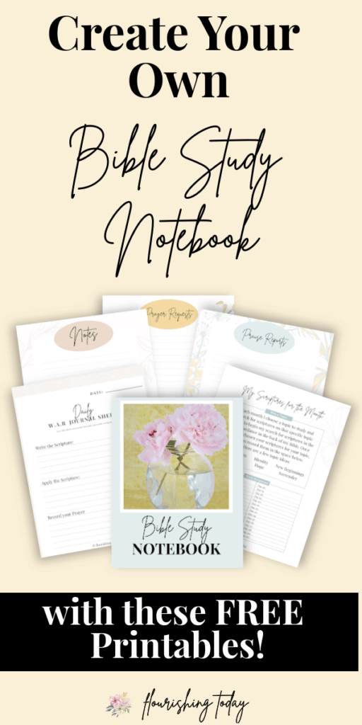 Are you ready to get organized in your quiet time? Grab these free printables today and learn how to create your own Bible Study Notebook! #biblestudy #bible #journaling