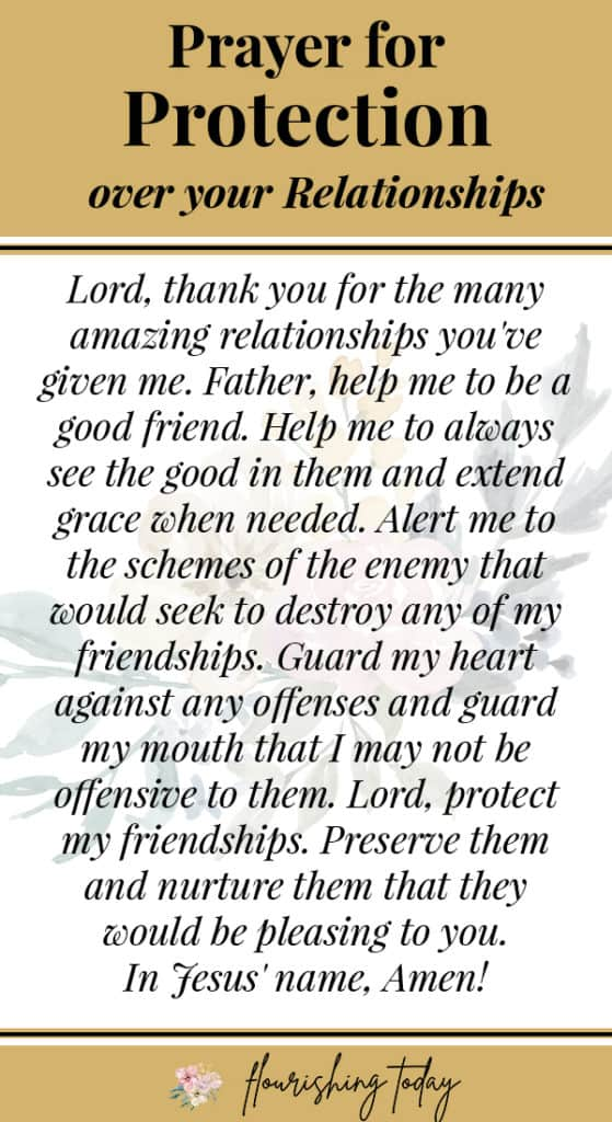 Do you need prayers on protection as you encounter difficult battles? Here you'll find prayers for protection against evil, disease, for your finances and for your relationships. If you or your loved ones are experiencing hardship, these prayers are sure to be an encouragement! #prayer #warfare #protectionprayer